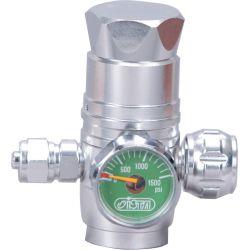 Регулятор ISTA СО2 вертикальный с манометром для одноразовых картриджей