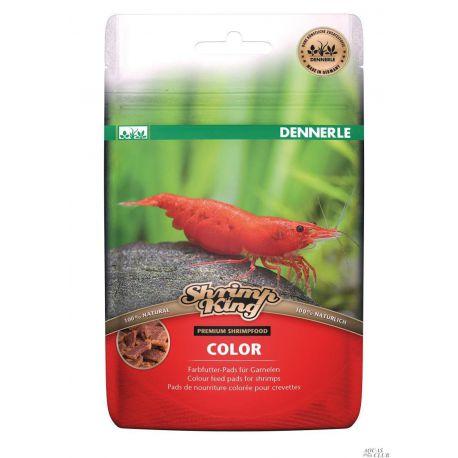 Dennerle ShrimpKing Color - Дополнительный корм в форме пластинок для яркой окраски креветок, 30 г