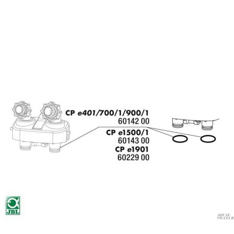 Прокладка блока кранов для фильтров JBL CristalProfi е1500/1 2шт