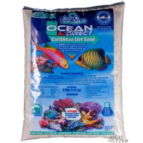 Грунт Carib Sea Ocean Direct Original Grade – песок живой арагонитовый 0,25-6,5мм 9кг