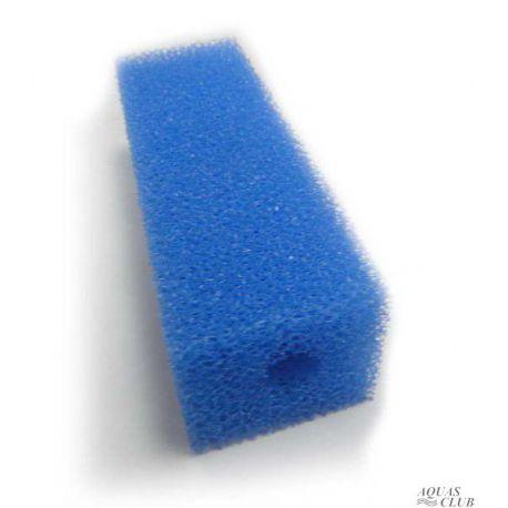 Губка фильтрующая Roof Foam с отверстием 140х45х45 мм, PPI30, синяя