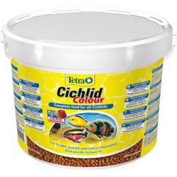 Tetra Cichlid Colour 10 л – Корм усиливающий окраску цихлид, мульти шарики