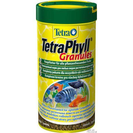 Tetra TetraPhyll Granules – Гранулированный корм для травоядных рыб 250мл