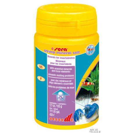 SERA shrimp mineral salt – Минерализатор воды для беспозвоночных 100мл 105г