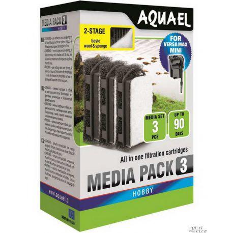 AQUAEL Media Pack для VERSAMAX MINI губка и флизелин 3шт