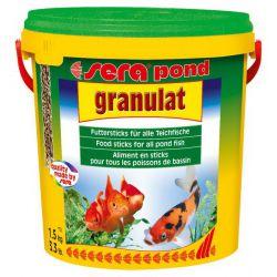 SERA pond granulat – Корм гранулированный плавающий для прудовых рыб 10л