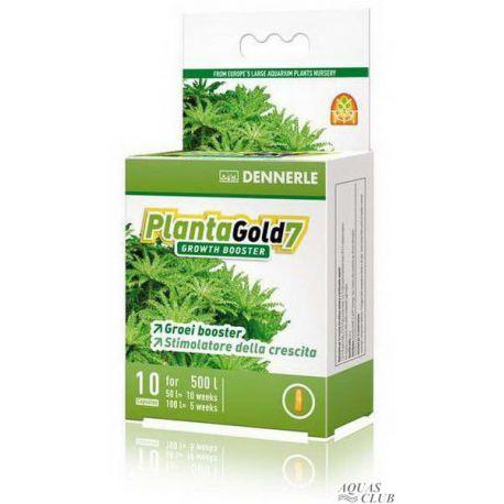 Dennerle PlantaGold 7 – Стимулятор роста для всех аквариумных растений, 10 капсул на 500 л