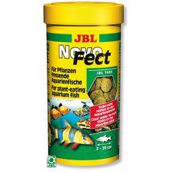 JBL NovoFect 100 мл – Корм в форме таблеток для растительноядных рыб, 160 табл.
