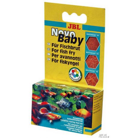 JBL NovoBaby – Комплект кормов для мальков, 3х10 мл (18 г)