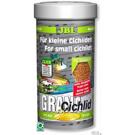 "JBL GranaCichlid – Корм класса ""премиум"" в форме гранул для плотоядных цихлид, 250 мл"