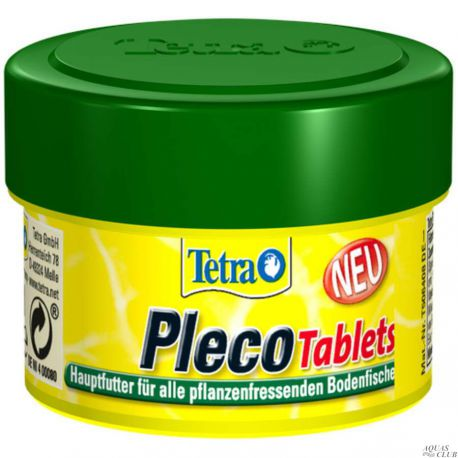 Tetra Pleco Tablets 58 таб. – Основной корм для любых видов травоядных донных рыб 66мл