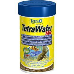 Tetra TetraWafer Mix 100 мл – Смесь основного корма для травоядных, хищных и донных рыб