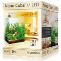 Dennerle Nano Cube Complete+ LED 20 л – Нано-аквариум с расширенным комплектом и светильником Nano Power LED 5.0