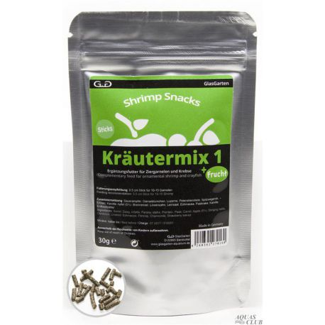 GlasGarten Shrimp Snacks Kräutermix 1 +Frucht 30 г
