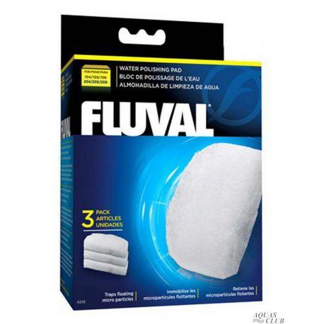 FLUVAL губка тонкой очистки для фильтров FLUVAL 104/105/106, 204/205/206 3 шт