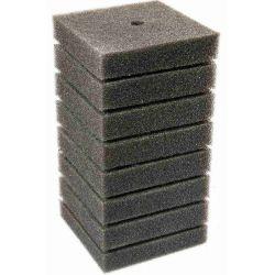 Губка фильтрующая квадратная с отверстием 140х70х70 мм, мелкая, серая