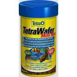 Tetra TetraWafer Mini Mix 100 мл – Полноценный корм для всех донных рыб и ракообразных