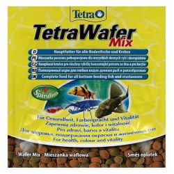 Tetra TetraWafer Mix 15 г – Смесь основного корма для травоядных, хищных и донных рыб