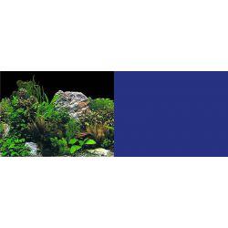 Фон двухсторонний 40 см – Растительный с камнем (черный) / Темно-синий (однотонный)