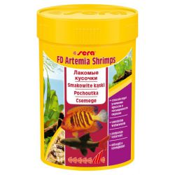SERA FD Artemia Shrimps 100 мл – Деликатесный корм для усиления окраски