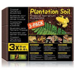 EXO TERRA Plantation Soil 3-pack 3x8.8 л – Субстрат кокосовая крошка