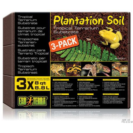 EXO TERRA Plantation Soil 3-pack 3x8.8 л