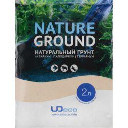 "UDeco River Amber 0,1-0,6 мм, 2 л – Натуральный грунт ""Янтарный песок"""