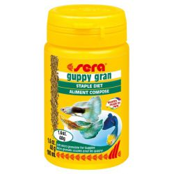 SERA guppy gran 100 мл – Микрогранулы для гуппи (48 г)