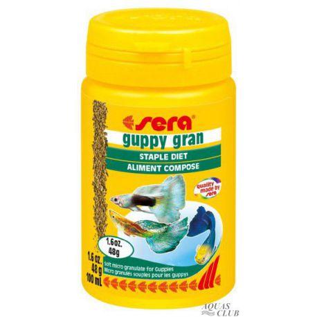SERA guppy gran – Микрогранулы для гуппи 100 мл (48 г)