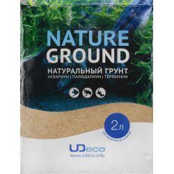 "UDeco River Amber 0,4-0,8 мм, 2 л – Натуральный грунт ""Янтарный песок"""