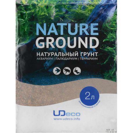 """UDeco River Brown 0,6-2,5 мм, 2 л – """"Коричневый песок"""""""