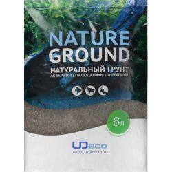"""UDeco River Brown 0,6-2,5 мм, 6 л – Натуральный грунт """"Коричневый песок"""""""