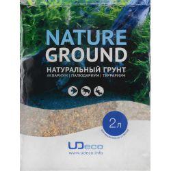 """UDeco River Brown 2,5-5 мм, 2 л – Натуральный грунт """"Коричневый гравий"""""""