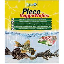 Tetra Pleco Veggie Wafers 15 г – Растительный корм премиум-класса для донных рыб