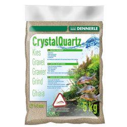 Dennerle Crystal Quartz Gravel Natural White 5 кг 1-2 мм природный белый