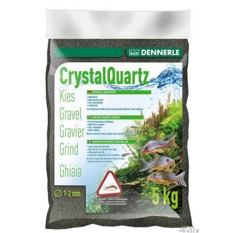 Dennerle Crystal Quartz Gravel Diamond Black 5 кг