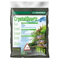 Dennerle Crystal Quartz Gravel Diamond Black 10 кг 1-2 мм черный