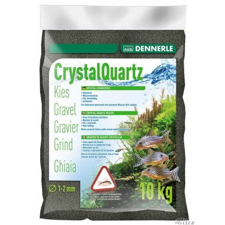Dennerle Crystal Quartz Gravel Diamond Black 10 кг