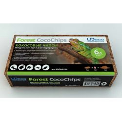 """UDeco Forest CocoChips 6 л – Натуральный грунт для террариумов """"Кокосовые чипсы"""""""