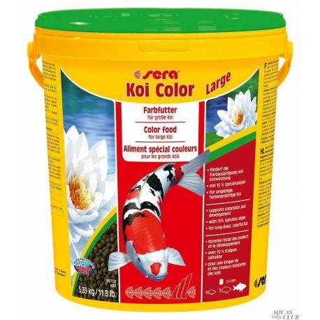 SERA Koi Color Large 21 л – Корм гранулированный для кои