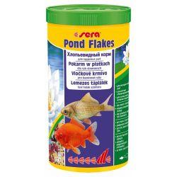 SERA Pond Flakes 1 л – Корм для мелких прудовых рыб, хлопья