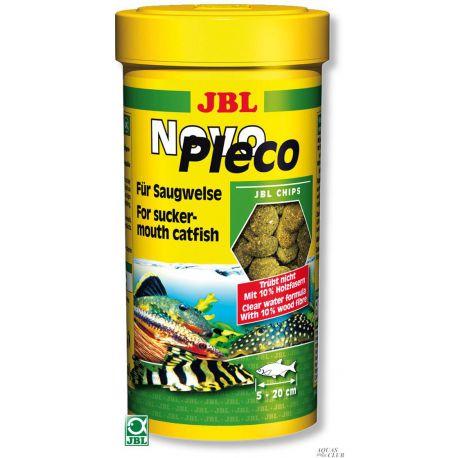 JBL NovoPleco - Водорослевые чипсы с примесью целлюлозы для кольчужных сомов, 100 мл. (53 г.)