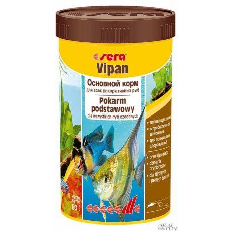 SERA Vipan 250 мл – Основной корм для всех видов рыб (60 г)
