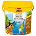 SERA Vipan 10 л – Основной корм для всех видов рыб, крупные хлопья 2 кг