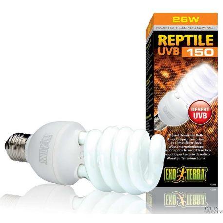 Exo Terra Reptile UVB150 26 Вт – Лампа для пустынного террариума