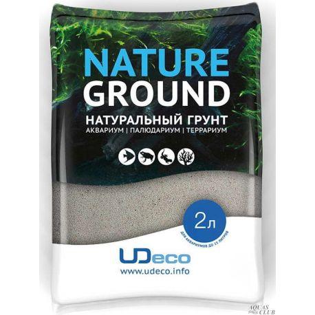 """UDeco River Light 0,4-0,8 мм, 2 л – Натуральный грунт """"Светлый песок"""""""