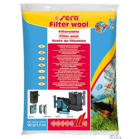 SERA Filter wool 100 г – Фильтрующая вата