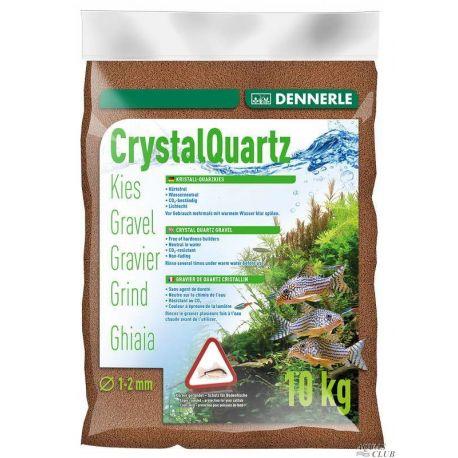 Dennerle Crystal Quartz Gravel 1-2 мм, светло-коричневый, 10 кг