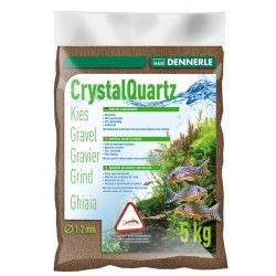Dennerle Crystal Quartz Gravel 1-2 мм, темно-коричневый, 5 кг