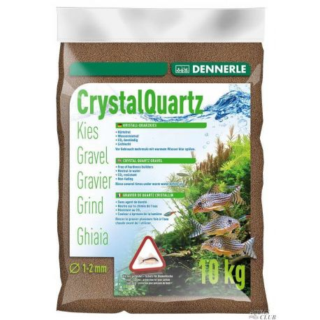 Dennerle Crystal Quartz Gravel 1-2 мм, темно-коричневый, 10 кг